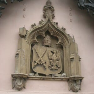 Fulham Palace Coat of Arms before restoration 2011