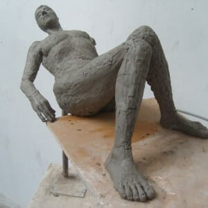 Half-Life Size study of Louise,clay 2012