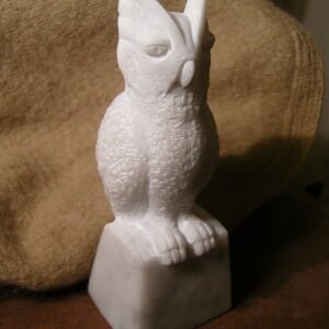 Screetch Owl, Carrara Marble, 2010