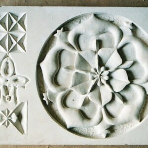 Tudor Rose, Portland Stone, 2002