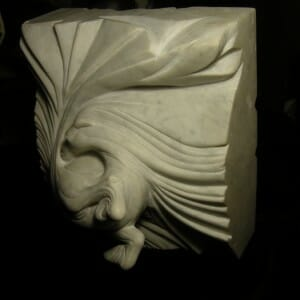 Vortex Horse, Carrara Marble, 2009 (view 1)