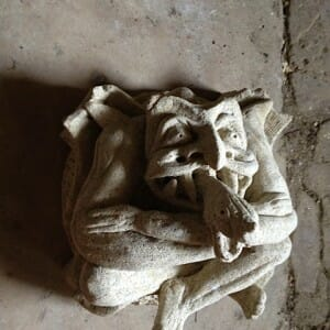 Grotesque Serpant Man Boss, Bath Stone, 2002