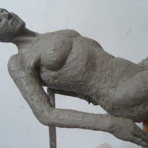 Half-Life Size study of Louise, Clay, 2012 (view 2)
