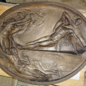 Sir John Soane's Museum Roundel after re-modelling of arms and feet of various figures (2012)
