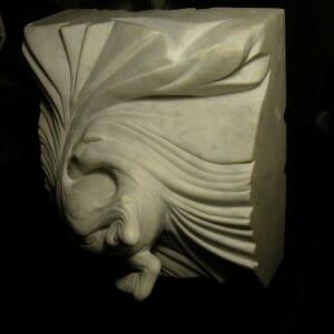 Vortex Horse, Carrara Marble, 2009 (view 1)