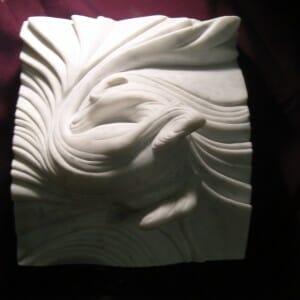 Vortex Horse, Carrara Marble, 2009 (view 3)